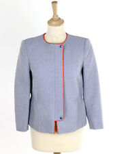 Hobbs Womens Pale Chambray Tailored Jacket Size 8