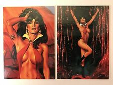 PROMO CARDS: VAMPIRELLA BLOOD LUST 1997 Comic Images: 2 DIFFERENT #1 & #2 of 2