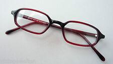 Brillenfassung Lesebrille ohne Glas occhiali ROT Gestell zierlich schmale Form M