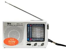 Quantum FX (QFX) R-9 AM/FM/MW/SW1-7 Portable Radio (Analog TV Sound Ch 2-5)