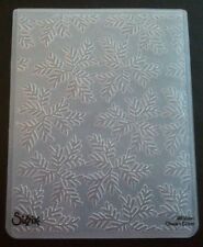 Sizzix  Large Embossing Folder TRIAD LEAVES LEAF fits Cuttlebug & Wizard
