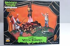 Lemax Spooky Town Witch Burning Lighted Table Accent