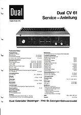 Service Manual-Instructions pour DUAL CV 61