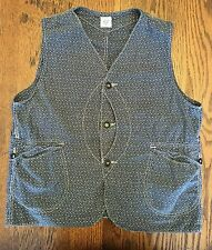 Post Overalls Traveler Vest M Medium Indigo Calico O'Alls