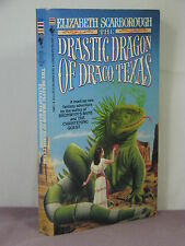 1st, signed, Drastic Dragon 1 of Draco Texas by Elizabeth Ann Scarborough (1985)