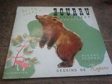 Bourru l'ours brun par Lida dessins de Rojan albums du père castor 1947