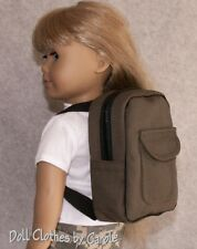"Army Green Boy Backpack for 18"" American Girl Dolls - Magic Attic"