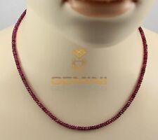 Gemini Gemstones Turmalin-Kette rosa Turmalin Rubellit Halskette Damen  44,5 cm
