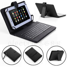 "For Amazon Kindle Fire 7 7"" 5th Gen 2015 Micro USB Keyboard Leather Case Cover"