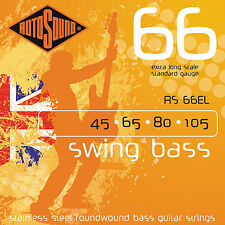 Rotosound RS66EL STAINLESS STEEL BASS STRINGS 45-105 extra long scale