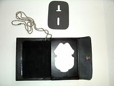 U.S. Army MP Snap Wallet Recessed Badge Cut Out & ID Window Leather CT-03LGR
