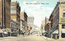 1909 Stores Main St. Looking East Dallas TX post card