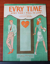 1944 sheet music - Ev'ry Time I Fall In Love  Jenkins- Piano, vocal, chords