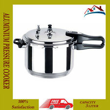 NEW 3 L ALUMINIUM KITCHEN PRESSURE COOKER COOKING PRESSURE COOKER KITCHEN COOK