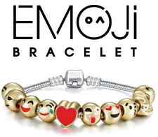 Emoji Bracelet 18k Gold Plated Charms 10 beads Set FAST FREE SHIPPING (MSRP $50)