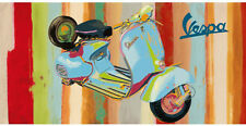 SCOOTER ART PRINT - VESPA Panel I by Valerio Salvini 39x19 Motorcycle Poster