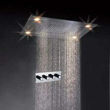 "31"" Large Rain LED Shower Set Faucet Double Waterfall Shower Super Shower Heads"
