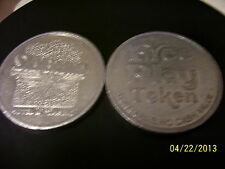 LOT OF 5  SILVER BIRD Casino Las Vegas Token For Free Slot Play, DIFFERENT STYLE
