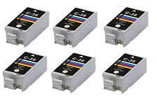 NOW INK 6 x CLI-36 COMPATIBLE INK CARTRIDGES for CANON ip100 CLI36C COLOR
