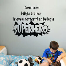 Brother Superhero wall sticker art children boys room decor PVC Removable mural