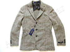 New Ralph Lauren Polo Italy Wool Blend Gray Herringbone Sport Coat Jacket 38 S