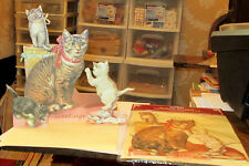 OLD STOCK SHACKMAN VICTORIAN GREETING CAT KITTTEN STAND UP 3D GREETING CARD NRFP