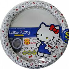 Seiwa KT472 Car Accessory handle cover Hello Kitty steering wheel cover White