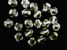 200pcs Silver Champagne Glass Crystal Faceted Bicone Beads 4mm Spacer Findings