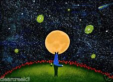Australian Cattle Dog Blue Heeler LARGE Art PRINT Todd Young painting Starry Sky