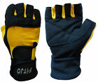 BYA DOUBLE STRAP WEIGHT LIFTING GYM EXERCISE BODYBUILDING GLOVES S, M, L OR XL