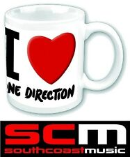 NeW *OFFICIAL PRODUCT* I LOVE ONE DIRECTION 1D GROUP LOGO BOXED COFFEE MUG CUP