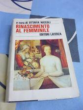 RINASCIMENTO AL FEMMINILE OTTAVIA NICCOLI 1991 laterza