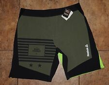 NEW TAGS Men's Les Mills Combat Reebok CrossFit Speed Board Workout Shorts Med