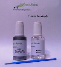 Lackstift Set BMW, Farbnummer: 354 Titansilber Metallic + Klarlack, 2x20ml