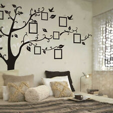Large Home Decor Photo Frame Black Tree Removable Decal Wall Sticker Vinyl Art