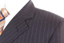 M&S sastrería Gris a Rayas 100% Lana MEN'S Suit 38R limpiado en seco