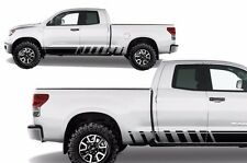 Vinyl Decal Lower Strobe Rocker Wrap Kit for Toyota Tundra TRD 07-13 Matte Black