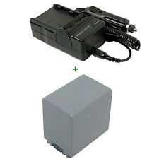 Battery + Charger for NP-FP90 SONY DCR-DVD92E Handycam Rechargeable Lithium-ion