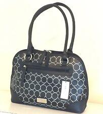 NWT NINE WEST Central Time Double Handle Shoulder Bag Black Tote MSRP $85.00