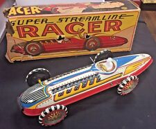 "MARX TIN SUPER STREAMLINE INDY RACE CAR 16"" EXC W/BOX"