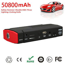 50,800mAh Auto Multi-Function Car Jump Starter Electronic Battery Power Bank Red