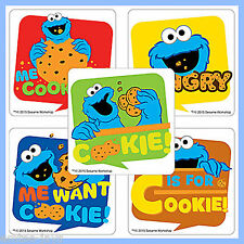Sesame Street Cookie Monster Stickers x 5 - Cookie Monster - Birthday Favours