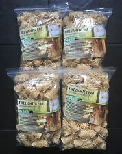No1 Natural Firelighters, 4xZIPS=240pieces, For Stoves, Fireplaces, BBQ