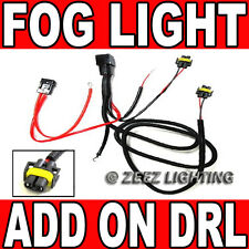 H11/880 Relay Harness Wire Kit LED HID DRL Lamp AddOn Daytime Running Fog Light