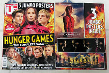 HUNGER GAMES Special Edition US Magazine COMPLETE SAGA + 3 Jumbo POSTERS All 4