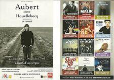 FLYER PLV - AUBERT CHANTE HOUELLEBECQ EN CONCERT LIVE 2014 CLERMONT FERRAND