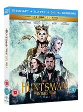 The Huntsman Winter's War 3D Blu-Ray 3D+2D Region Free New.