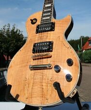 Le Paul * spalted Maple Top * EMG Hz camionetas, Grover sintonizador, body masivamente caoba