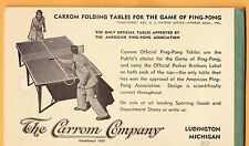 Vintage Carrom Co, Ads for Bridge Sets & Ping-Pong Tables & Rules for Ten Pins