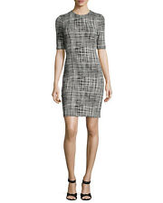 Theory Rijik B. Configure Sheath Dress, Black/Eggshell - NWT Size 12